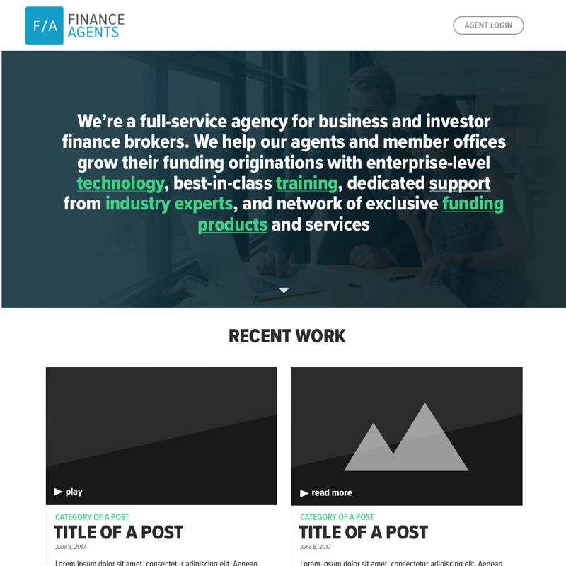 Finance Agent Homepage Square